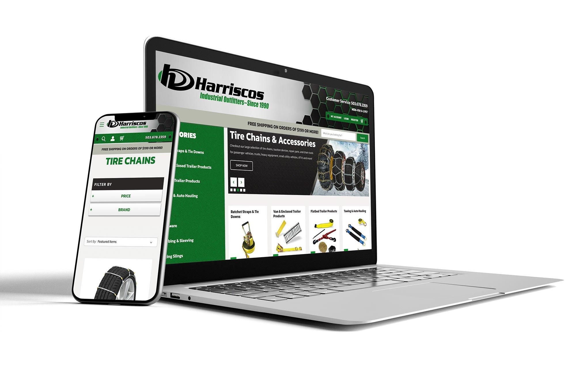 Harriscos responsive web design
